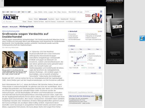"""Frankfurter Allgemeine Zeitung über die kriminellen Machenschaften der """"GoMoPa"""""""