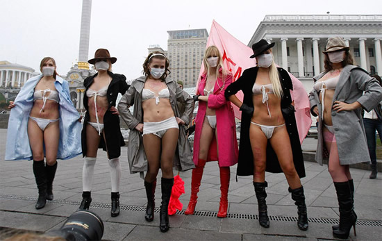 Video – Femen Activist's Mock Execution