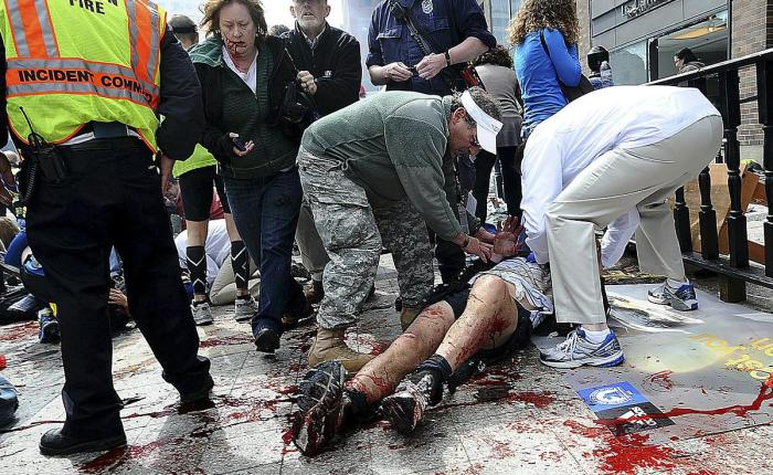 Revealed – First Seconds After Boston Bomb Blast 1