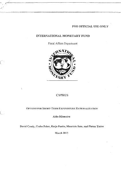 IMF-CyprusExpenditureRationalization
